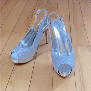David's Bridal Sparkly Heels Size 11